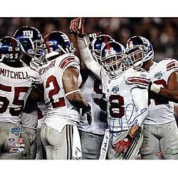 Antonio Pierce Hand-signed Super Bowl XLII Huddle 8x10 Photo