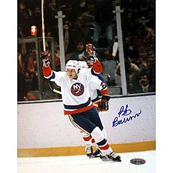 Bob Bourne Autographed Arms Raised Celebration Photograph