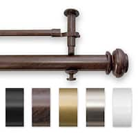 Pinnacle Bold Pole Metal Adjustable Double Currain Rod Set