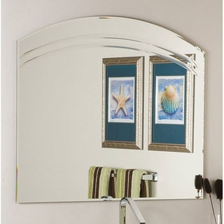 Shop Paula S Pink Frameless Wall Mirror Overstock 4664925