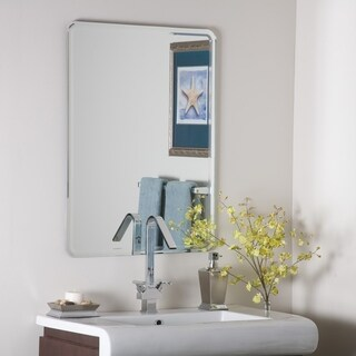 Samson Large Frameless Mirror - Silver