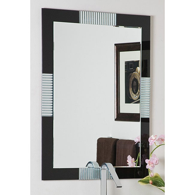 Frameless Wall Mirror francisco large frameless wall mirror - free shipping today