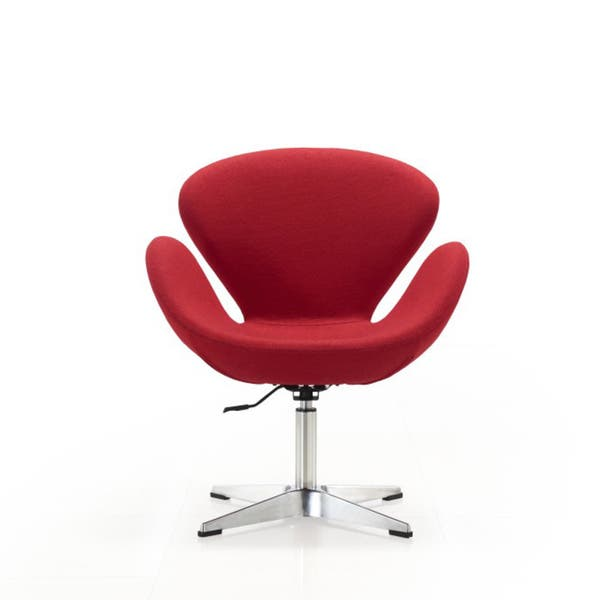 Outstanding Shop Raspberry Adjustable Swivel Chair Free Shipping Today Creativecarmelina Interior Chair Design Creativecarmelinacom