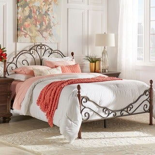 Delightful LeAnn Graceful Scroll Bronze Iron Bed By INSPIRE Q Classic