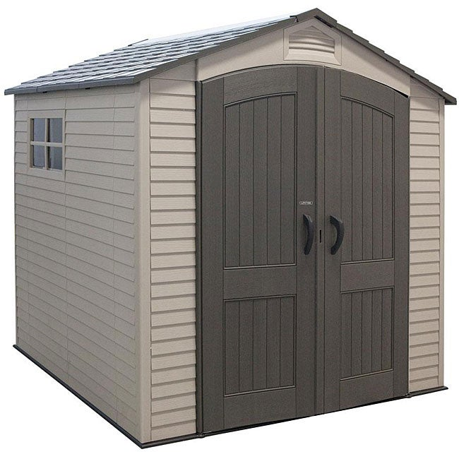 Lifetime basic storage shed 7 39 x 7 39 free shipping - Casetas pvc exterior ...