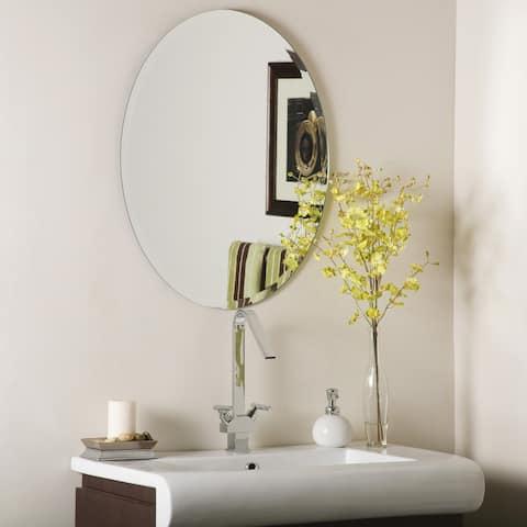 Odelia Oval Bevel Frameless Wall Mirror - Silver - A/N
