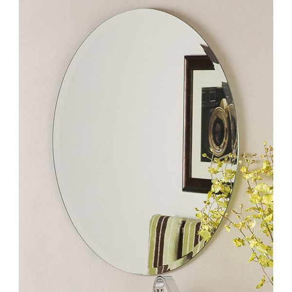 Frameless Wall Mirror odelia oval bevel frameless wall mirror - free shipping today
