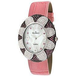 Peugeot Women's Pink Oval Flower Watch