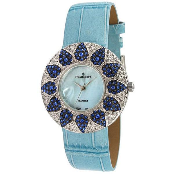 Peugeot Women's Blue Round Watch