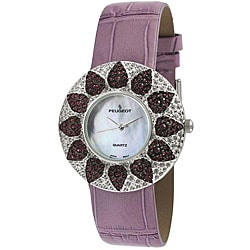 Peugeot Women's Purple Round Watch
