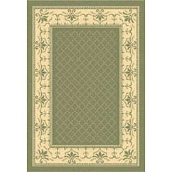 Safavieh Royal Olive Green/ Natural Indoor/ Outdoor Rug (4' x 5'7)