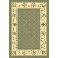 Safavieh Royal Olive Green/ Natural Indoor/ Outdoor Rug - 4' x 5'7