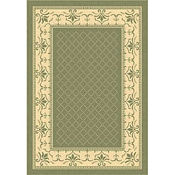 Safavieh Royal Olive Green/ Natural Indoor/ Outdoor Rug - 8' x 11'