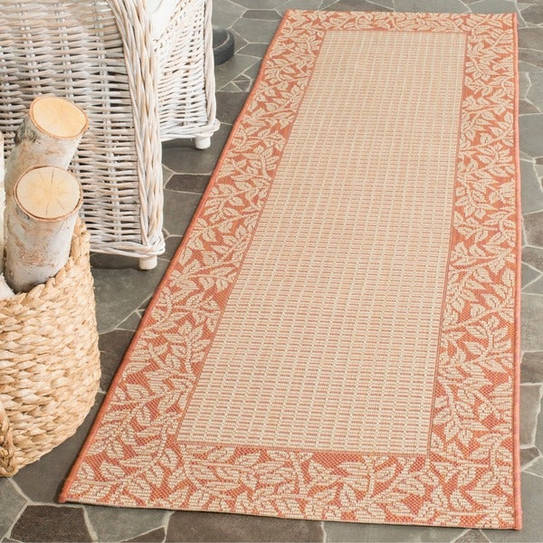 Safavieh Courtyard Natural/ Terracotta Indoor/ Outdoor Runner (2'4 x 6'7)