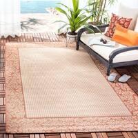Safavieh Courtyard Natural/ Terracotta Indoor/ Outdoor Rug - 8' x 11'