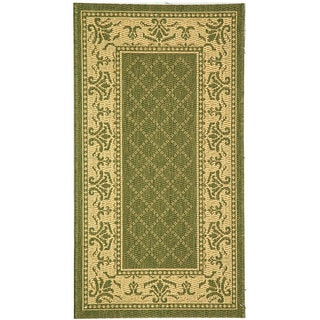 Safavieh Royal Olive Green/ Natural Indoor/ Outdoor Rug (2'7 x 5')