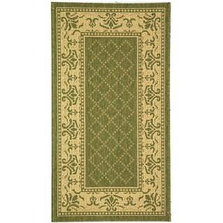 Safavieh Royal Olive Green/ Natural Indoor/ Outdoor Rug (2'7 x 5')
