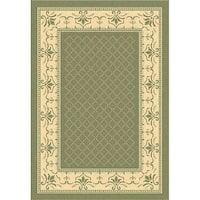 Safavieh Royal Olive Green/ Natural Indoor/ Outdoor Rug - 5'3 x 7'7
