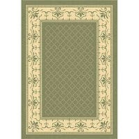 Safavieh Royal Olive Green/ Natural Indoor/ Outdoor Rug - 9' x 12'