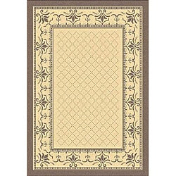 Safavieh Royal Natural/ Brown Indoor/ Outdoor Rug (4' x 5'7)