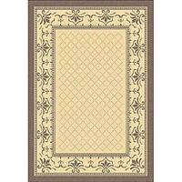 Safavieh Royal Natural/ Brown Indoor/ Outdoor Rug - 4' x 5'7