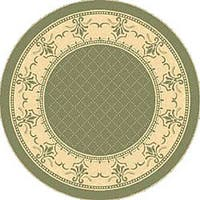 Safavieh Royal Olive Green/ Natural Indoor/ Outdoor Rug (6'7 Round) - 6'7
