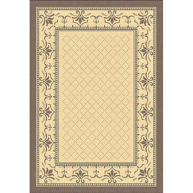 Safavieh Indoor/ Outdoor Royal Natural/ Brown Rug (5'3 x 7'7)