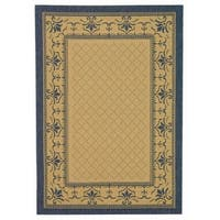 "Safavieh Royal Natural/ Blue Indoor/ Outdoor Rug - 6'-7"" x 9'-6"""
