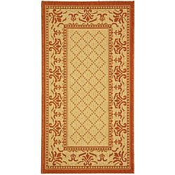 Safavieh Royal Natural/ Terracotta Indoor/ Outdoor Rug - 2'7 x 5'