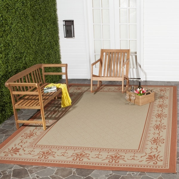 Safavieh Royal Natural/ Terracotta Indoor/ Outdoor Rug - 9' x 12'