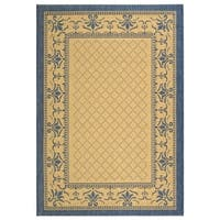 Safavieh Royal Natural/ Blue Indoor/ Outdoor Rug - 4' x 5'7""