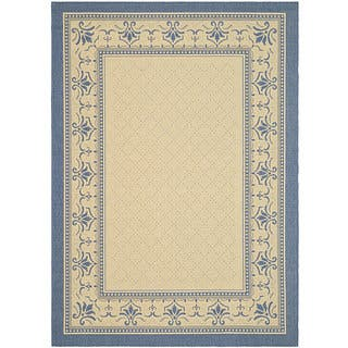 Safavieh Royal Natural/ Blue Indoor/ Outdoor Rug (9' x 12')|https://ak1.ostkcdn.com/images/products/4765499/P12668064.jpg?impolicy=medium