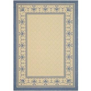 Safavieh Royal Natural/ Blue Indoor/ Outdoor Rug (9' x 12')
