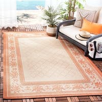 Safavieh Royal Natural/ Terracotta Indoor/ Outdoor Rug - 6'7 x 9'6