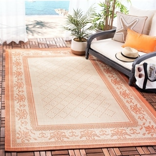 Safavieh Royal Natural/ Terracotta Indoor/ Outdoor Rug (8' x 11')