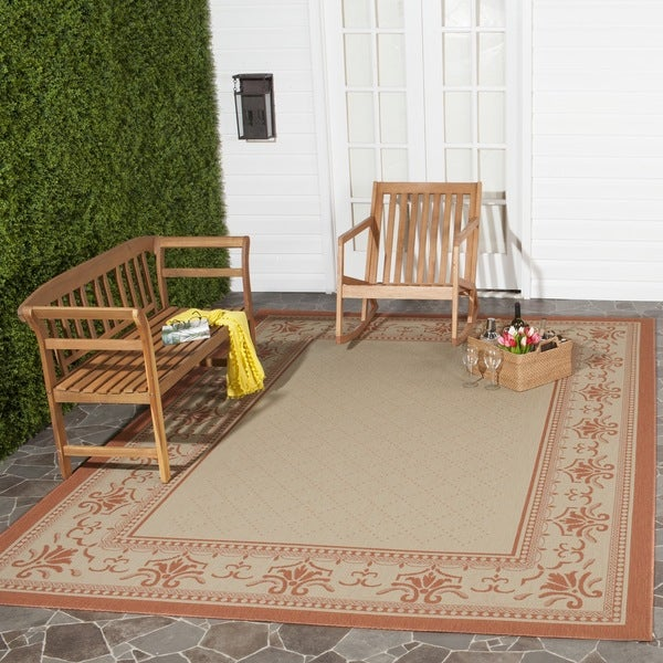 Safavieh Royal Natural/ Terracotta Indoor/ Outdoor Rug - 7'10 x 11'