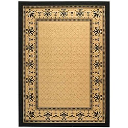Safavieh Royal Sand/ Black Indoor/ Outdoor Rug (9u0027 x ...