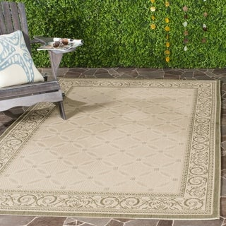 Safavieh Bay Natural/ Olive Green Indoor/ Outdoor Rug (4' x 5'7)