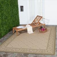 Safavieh Bay Natural/ Olive Green Indoor/ Outdoor Rug - 8' x 11'