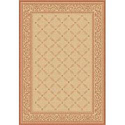 Safavieh Indoor/ Outdoor Bay Natural/ Terracotta Rug (2'7 x 5')