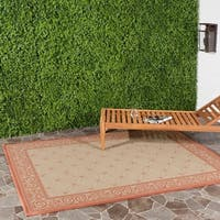 "Safavieh Bay Natural/ Terracotta Indoor/ Outdoor Rug - 6'7"" x 9'6"""