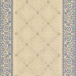 Safavieh Bay Natural/ Blue Indoor/ Outdoor Runner (2'4 x 6'7) - Thumbnail 2