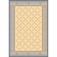 "Safavieh Bay Natural/ Blue Indoor/ Outdoor Rug - 5'3"" x 7'7"""