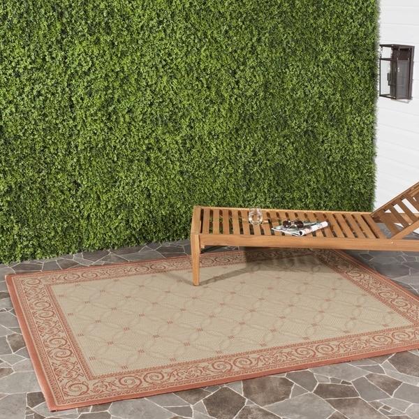 Safavieh Indoor/ Outdoor Bay Natural/ Terracotta Rug (4' x 5'7)