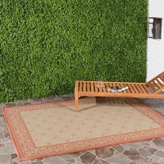 Safavieh Indoor/ Outdoor Bay Natural/ Terracotta Rug (5'3 x 7'7)
