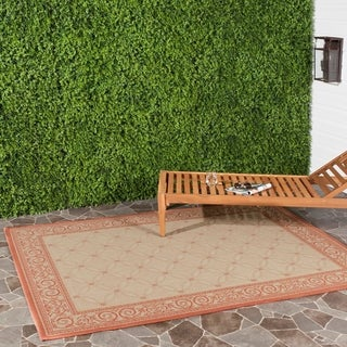 Safavieh Indoor/ Outdoor Bay Natural/ Terracotta Rug (8' x 11')