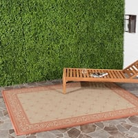 Safavieh Bay Natural/ Terracotta Indoor/ Outdoor Rug - 8' X 11'