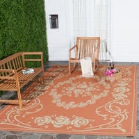 Safavieh Garden Elegance Terracotta/ Natural Indoor/ Outdoor Rug - 9' x 12'