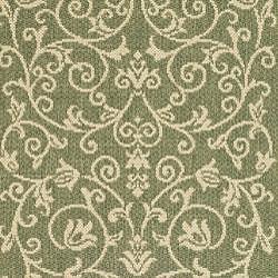 Safavieh Resorts Scrollwork Olive Green/ Natural Indoor/ Outdoor Runner (2'4 x 6'7)