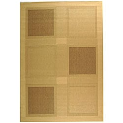 Safavieh Lakeview Natural/ Brown Indoor/ Outdoor Rug (5'3 x 7'7)